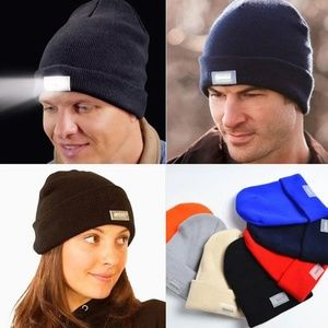 LED Joggers Cycling Runners Outdoors Knit Beanie